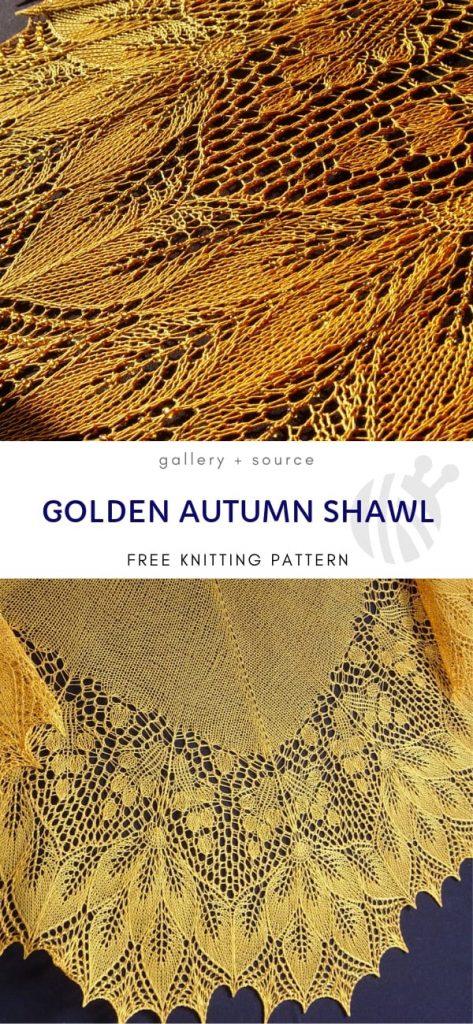 Golden Autumn Shawl free knitting pattern