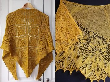 Golden Knitted Shawls 1