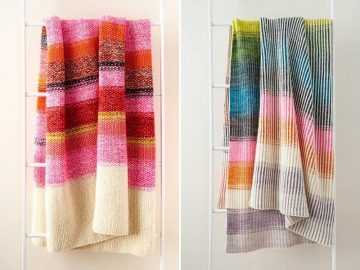 Multicolored Knitted Blankets