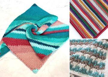 Striped Crochet Blankets For Beginners