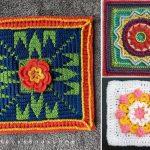 Stunning Flowery Afghan Crochet Squares