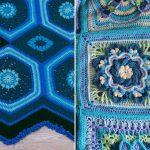 Vibrant Blue Crochet Throws