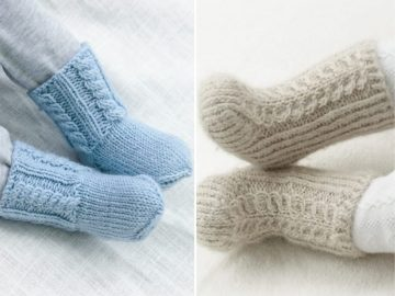 Warm Knitted Booties 1