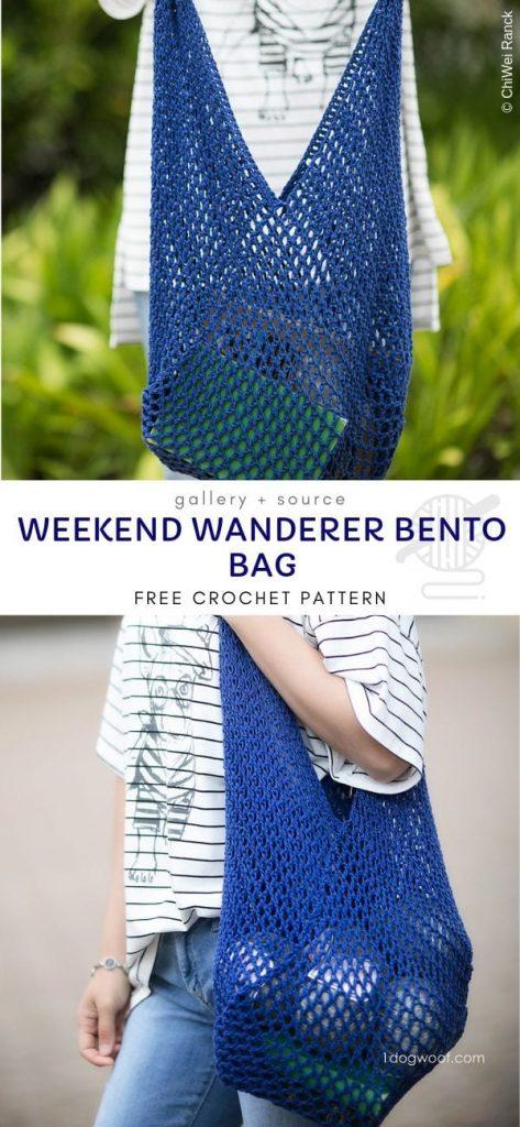 Weekend Wanderer Bento Bag padrão de crochê grátis 1