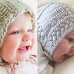 Adorable Knitted Baby Bonnets
