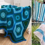 Vibrant Blue Crochet Throws