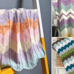 Chevron Knitted Baby Blankets