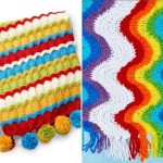 Cheerful Ripple Knitted Blankets