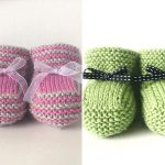 Cute Knitted Baby Booties