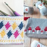 Cute Tapestry Crochet Pouches
