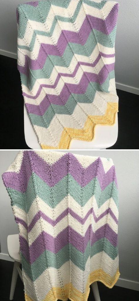 Chevron Baby Blanket 2