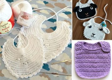 Cute Crochet Bibs For Toddlers
