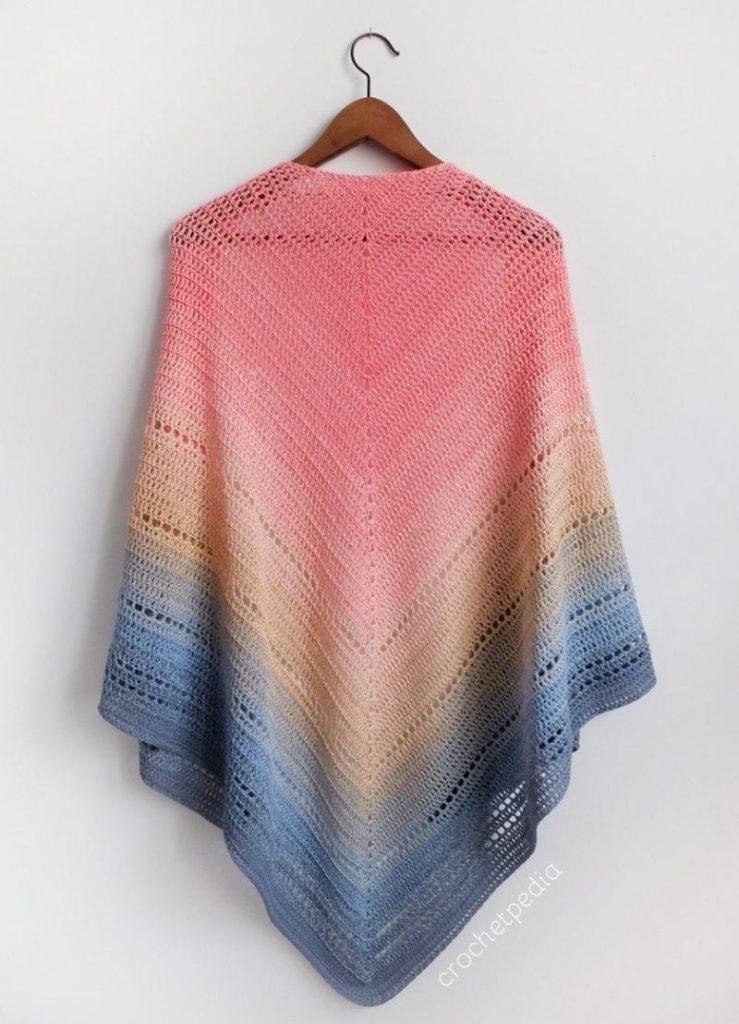 Lake Sunset Shawl Free Crochet Pattern