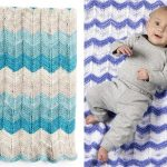 Soft Chevron Knitted Blankets
