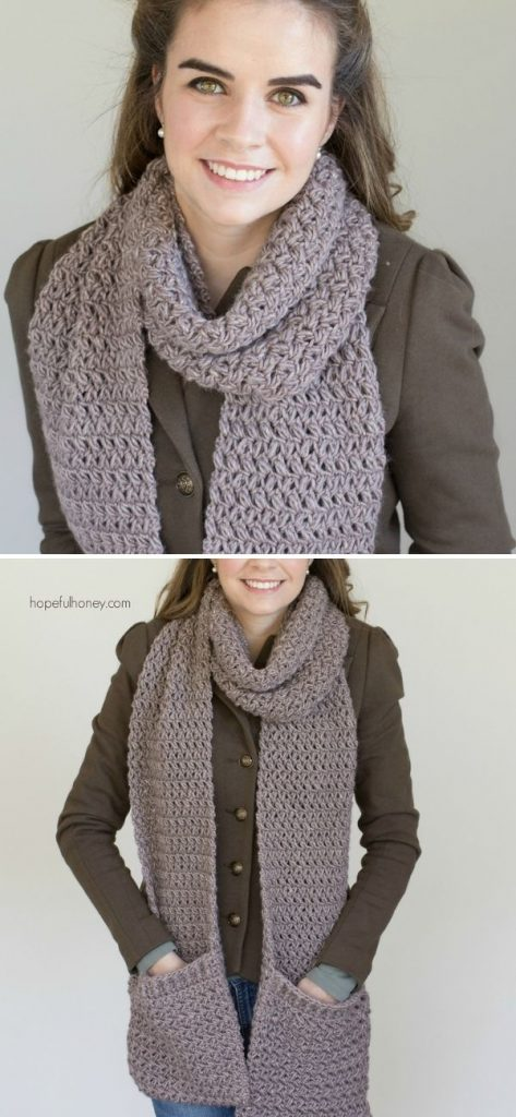 Mulberry Shadow Pocket Scarf