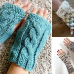 Easy And Super Comfy Knitted Mittens