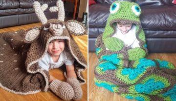 2in1 Animal Blankets for Children