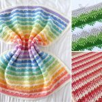 Spike Stitch Colorful Crochet Throws