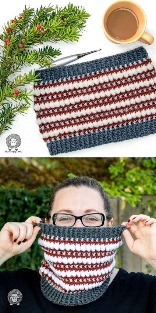 Strut Your Puff Crochet Cowl