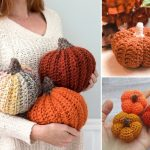 Fun Autumnal Colorful Crochet Pumpkins