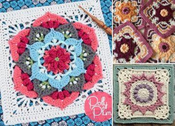 Beautiful Fun Crochet Afghan Squares