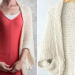 Beige Knitted Shrugs