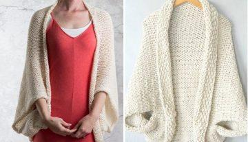 Beige Knitted Shrugs 1