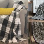 Black and White Crochet Throws