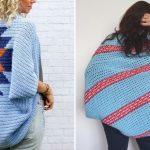 Blue Crochet Warm Shrugs