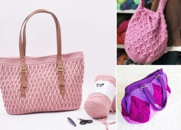 Casual Colorful Crochet Bags