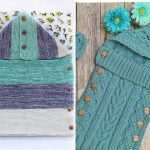 Cute Knitted Hooded Blankets Free Patterns