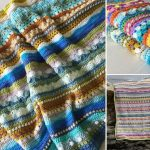 Energetic and Colorful Crochet Blankets
