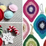 Flat Hanging Christmas Crochet Decorations