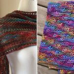 Knitted Drop Stitch Shawls