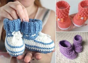 Super Cute Crochet Booties