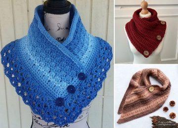 Trendy Colorful Crochet Cowls