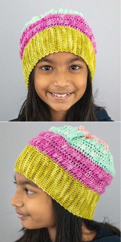 Azalea Puff Stitch Hat