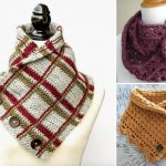 Comfy Buttoned Crochet Cowls