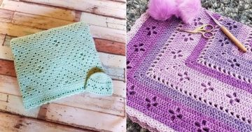 Free Pattern: Aidan's Radiating Diamonds Blanket