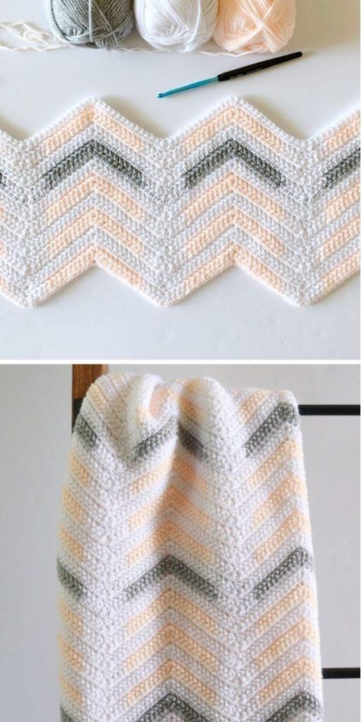 Crochet Herringbone Chevron