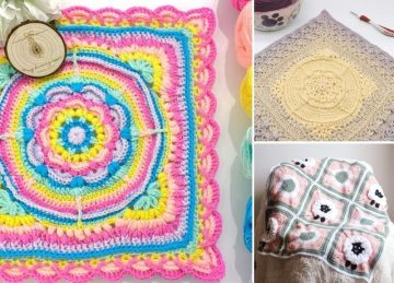Beautiful Vibrant Crochet Baby Blankets