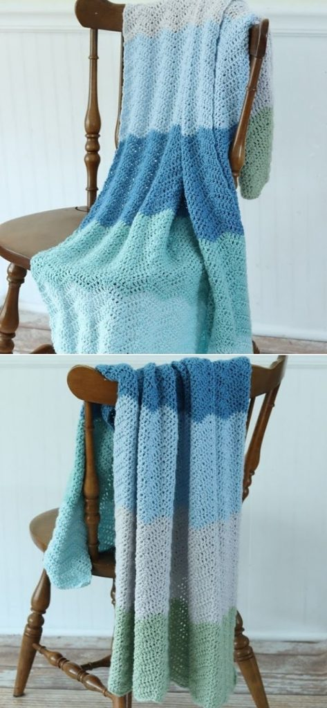 Timeless Ripple Baby Blanket
