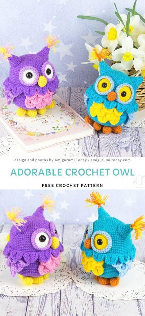 Adorable Crochet Owl Free Crochet Pattern