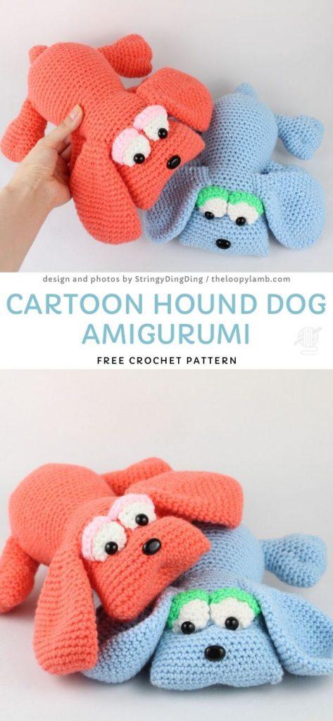 Cartoon Hound Dog Amigurumi Free Crochet Pattern