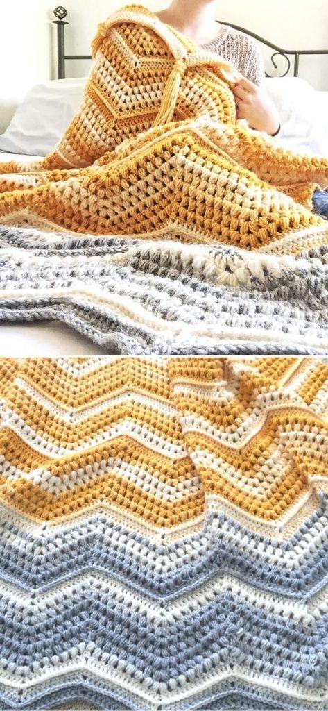 Chevron with a Twist Blanket