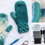Chunky Warm Crochet Mittens