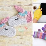 Cute and Colorful Crochet Mittens