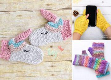 Colorful Crochet Mitts Free Crochet Pattern