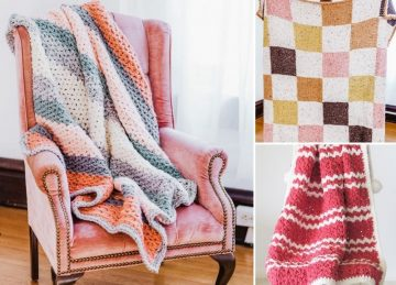 Comfy and Modern Winter Crochet Blankets