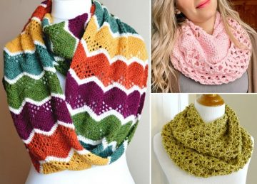 Crochet Infinity Scarves for Beginners Free Crochet Patterns